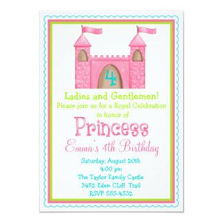 Princesa de hadas Castle Birthday Invitations Anuncio Personalizado
