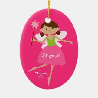 Princesa de hadas Christmas Ornament Adorno Navideño Ovalado De Cerámica