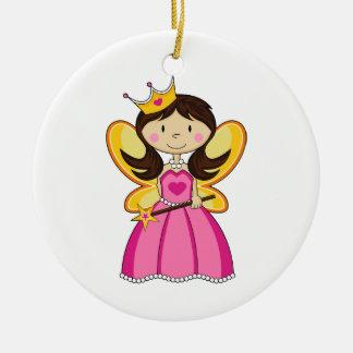 Princesa de hadas con el ornamento de la vara adornos de navidad