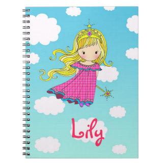 Princesa de hadas Custom Notebook - añada su nombr