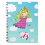 Princesa de hadas Custom Notebook - añada su nombr Cuaderno