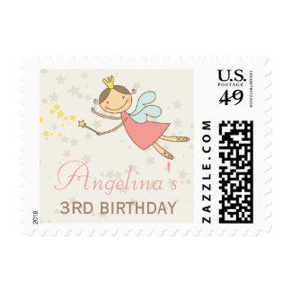 Princesa de hadas dulce caprichosa Birthday Stamps
