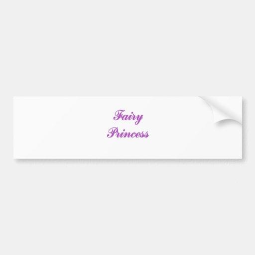 Princesa de hadas etiqueta de parachoque