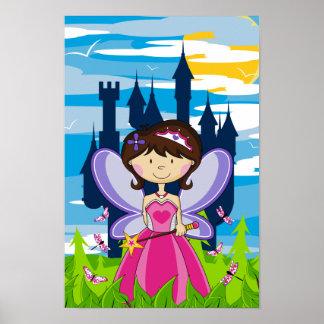 Princesa de hadas linda Poster