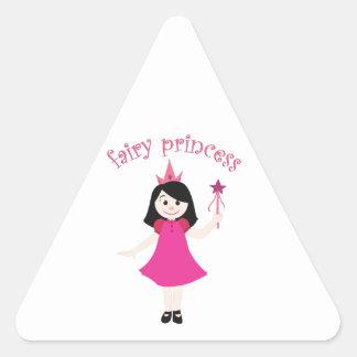 Princesa de hadas pegatinas triangulo personalizadas