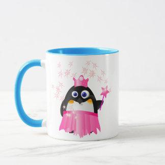 Princesa de hadas Penguin Taza