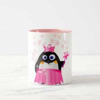 Princesa de hadas Penguin Taza De Café De Dos Colores
