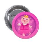 Princesa de hadas Piggy Button Pin