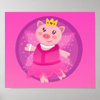 Princesa de hadas Piggy Poster