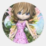 Princesa de hadas Sticker de Lil Pegatinas Redondas