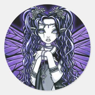 Princesa de hadas Stickers de la mariposa gótica Pegatina Redonda