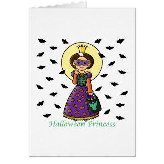 Princesa de Halloween Tarjeta De Felicitación