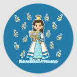 Princesa de Jánuca Etiquetas Redondas