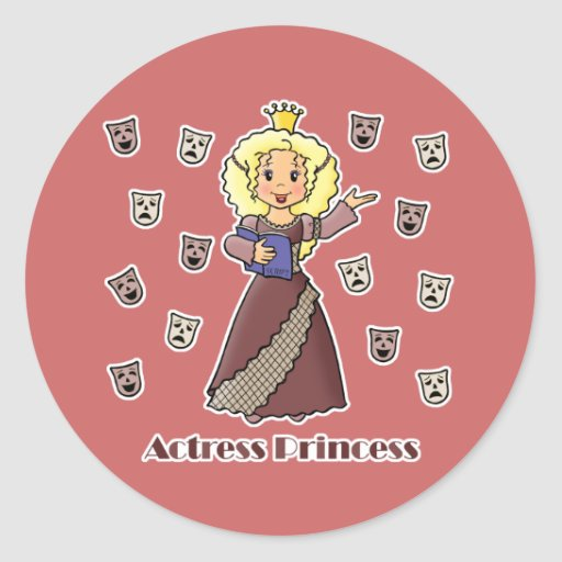 Princesa de la actriz pegatina redonda