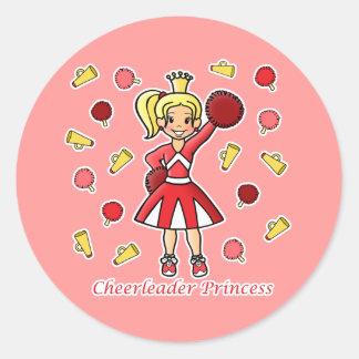 Princesa de la animadora etiquetas redondas