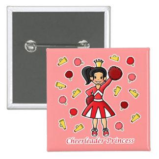 Princesa de la animadora pin cuadrada 5 cm