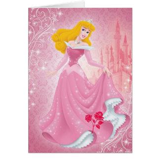 Princesa de la aurora tarjeta de felicitación