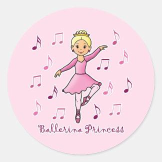 Princesa de la bailarina etiquetas