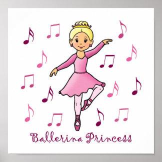 Princesa de la bailarina póster