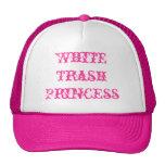 Princesa de la basura blanca gorra