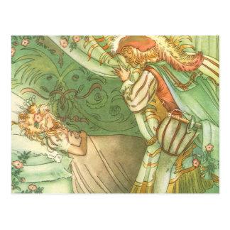 Princesa de la bella durmiente del vintage, prínci postales