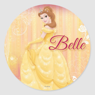 Princesa de la belleza etiqueta redonda