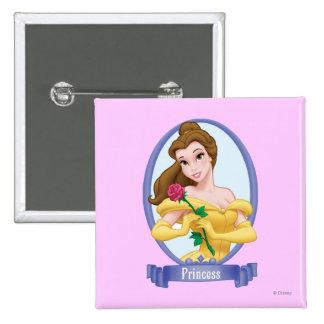 Princesa de la belleza pin cuadrada 5 cm