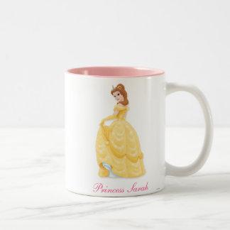 Princesa de la belleza taza de café de dos colores