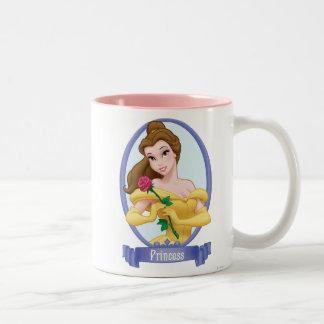 Princesa de la belleza taza de dos tonos
