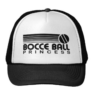 Princesa de la bola de Bocce Gorras