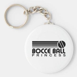 Princesa de la bola de Bocce Llavero Redondo Tipo Pin