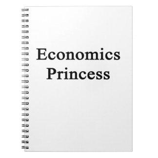 Princesa de la economía libreta espiral