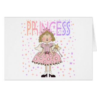 Princesa de la estrella tarjeta de felicitación