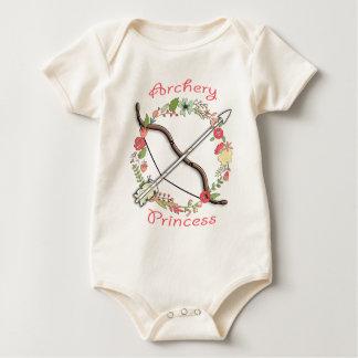Princesa de la flor del tiro al arco body para bebé