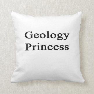 Princesa de la geología cojin