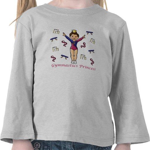 Princesa de la gimnasia camisetas