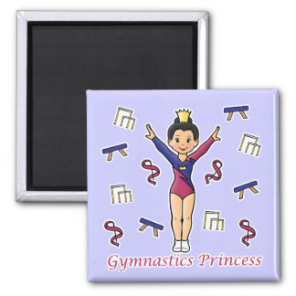 Princesa de la gimnasia imán cuadrado