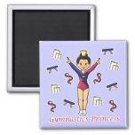 Princesa de la gimnasia imán para frigorífico