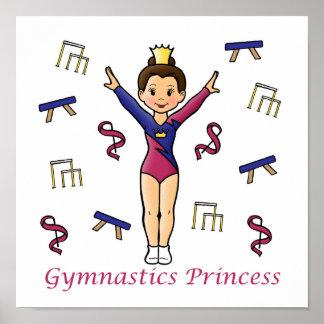 Princesa de la gimnasia póster