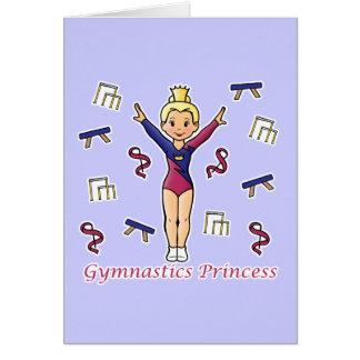 Princesa de la gimnasia tarjetas