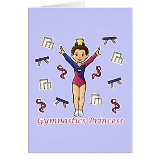 Princesa de la gimnasia tarjeta de felicitación