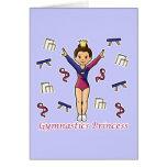 Princesa de la gimnasia tarjetón