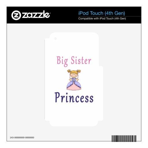 Princesa de la hada de la hermana grande iPod touch 4G calcomanía
