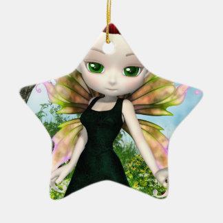 Princesa de la hada de Lil Adorno Navideño De Cerámica En Forma De Estrella