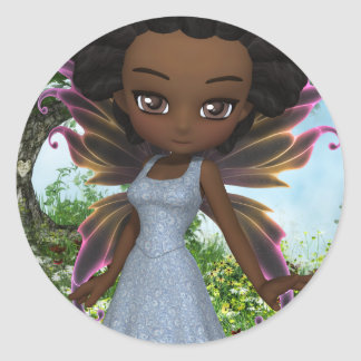 Princesa de la hada de Lil Pegatina Redonda