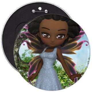 Princesa de la hada de Lil Pin Redondo De 6 Pulgadas