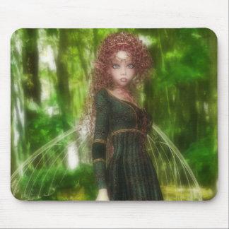 Princesa de la hada del bosque tapete de ratón