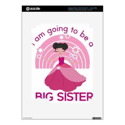 Princesa de la hermana grande iPad 3 pegatina skin