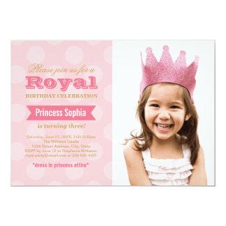 Princesa de la invitación el | de la fiesta de invitación 12,7 x 17,8 cm