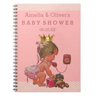 Princesa de la maleta en el libro de visitas de la notebook